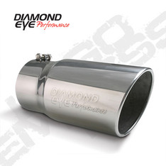 "DIAMOND EYE EXHAUST TIP 5"" INLET 6"" OUTLET STEEL LOGO EMBOSSED 12"" LONG BOLT-ON - 5612BRA-DE"