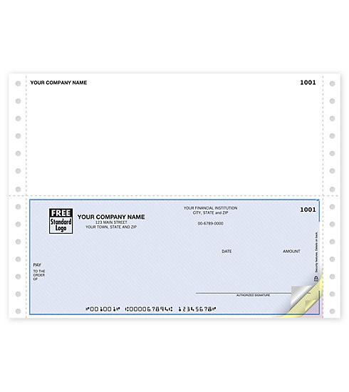 Cheque Continuo Multi-Uso.  Estos Cheques pueden ser ordenados con duplicados o sin duplicados. Info: admin@fullcolorpr.com