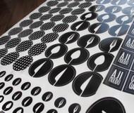 Ejemplo de Sticker Troquelado Impreso en un solo color- Negro
