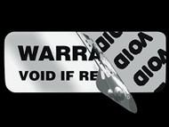 Ejemplo de label de seguridad Void