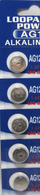 5pcs Maxell Replaced by Loopacell  LR43 1.5v Alkaline Button Batteries also known as AG12 301 386 L1142 LR1142 186 D301 D386