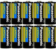 10 Pcs Panasonic Lithium Cr123a 3v Photo Lithium Batteries