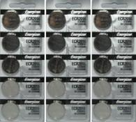 DL2016 Energizer 2016 Coin Lithium Batteries, 15 batteries