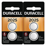 Button Cell Lithium Battery #2025, 4/Pk