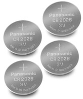 4 Pack -- Panasonic Cr2025 3v Lithium Coin Cell Battery Dl2025 Ecr2025