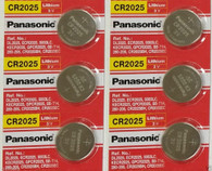 6 Pack -- Panasonic Cr2025 3v Lithium Coin Cell Battery Dl2025 Ecr2025