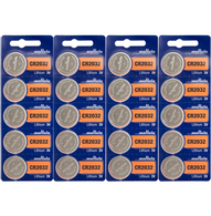 Sony Genuine Fresh Date CR2032 2032 Lithium 3V Batteries (20 pieces)  Replaced By Murata