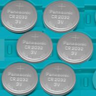 6 Pack -- Panasonic Cr2032 3v Lithium Coin Cell Battery Dl2032 Ecr2032
