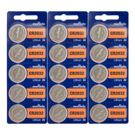 15 Sony CR-2032 CR2032 Lithium Button Cell Batteries  *Replaced By Murata