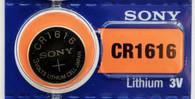 Sony CR1616 Lithium Coin Battery