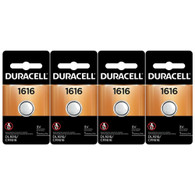 4 Duracell DL1616BPK Watch / Electronic / Keyless Entry Batteries, 3.0 Volt Lithium