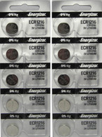 10 CR1216 Energizer Watch Batteries Lithium Battery