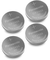 4pcs Panasonic Cr2450 3v Coin Lithium Battery, REMOTE KEYLESS ENTRY TRANSMITTER FOB Battery