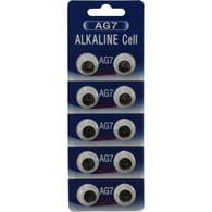 10 Pcs AG7 LR57 395/399 SR927 195 1.5V Alkaline Battery Button Cell for Watch Calculator(pack of 10)