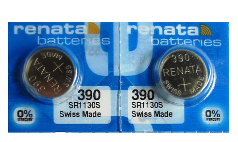 Renata Watch Batteries 390 2pcs