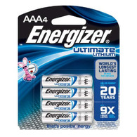 Energizer Ultimate L92BP-4 Lithium AAA Batteries 4 Pack. Exp. 2033