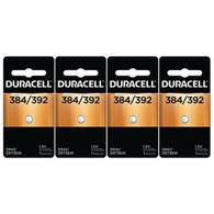 4 each: Duracell Silver Oxide Watch/ Calculator Battery (D384/392PK)