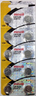 10 Pack MAXELL AG8 LR55 LR1120 191 391 button cell battery