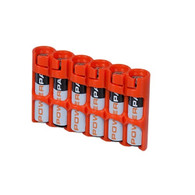 AAA 6 Pack slimline - Battery case - storAcell - Orange