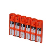 AAA 6 Pack slimline - Battery case - storAcell - Orange