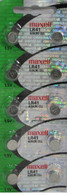 10 pack Genuine MAXELL AG3 LR41 392 button cell battery