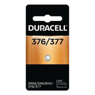 Duracell 377 (376, SR626SW) Silver Oxide Watch Battery, Carded