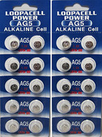 (20) AG5 393 LR754 SR754 Alkaline Battery Button Cell By LOOPACELL