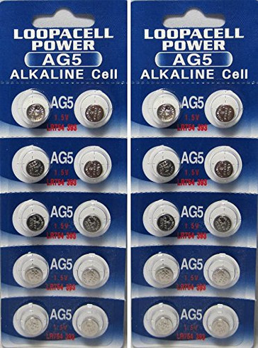 20 Ag5 393 Lr754 Sr754 Alkaline Battery Button Cell By Loopacell