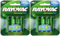 Rayovac Pre-Charged Recharge-Plus  AA 2400mAH NiMH Battery 8 Pack
