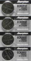 4 x Energizer CR2032 2032 Battery Watch/Electronic 3v 3 Volt Lithium Button Cell Batteries