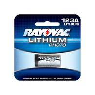 Rayovac 123A CR-123 2/3A 3V Photo Lithium Battery CR17335 5018LC