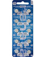 Renata Watch Battery 319 (Package of 10)