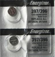 2 Energizer 397 / 396 SR726W AG2 LR726 280-52 29 396 612 D396 GP96 LR59 Battery