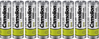 8 Camelion AA Ni-CD 1000mAh 1.2V Rechargeable Solar Light Lawn Lamp Batteries