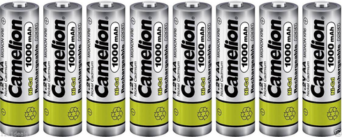 8 Camelion Aa Ni Cd 1000mah 1 2v Rechargeable Solar Light