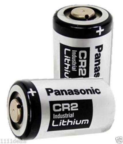 2 Pack Panasonic CR2 Photo Lithium 3V Batteries