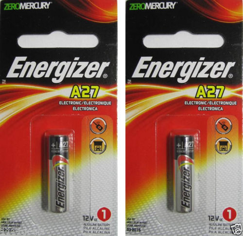 Duracell Car Battery Review >> 2 Energizer A27 12V Alkaline Batteries ...
