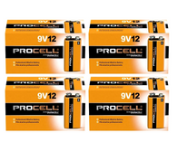 48 Duracell Procell 9V 9 Volt Alkaline Batteries