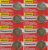 8 Pcs Fresh Panasonic Lithium ECR2025 CR2025 CR 2025 3V Batteries