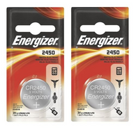 2 pcs Energizer CR2450 ECR2450 CR 2450 3v Lithium Batteries