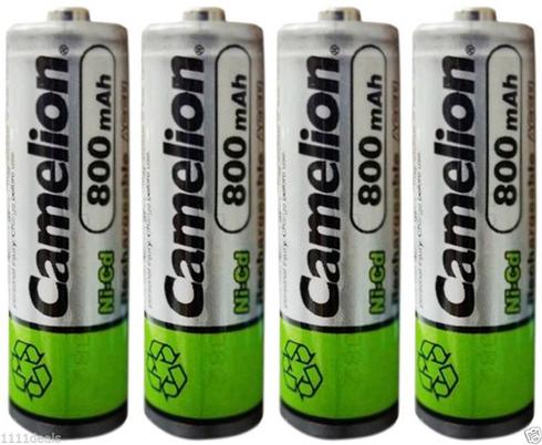 4 Camelion Aa Ni Cd 800mah 1 2v Rechargeable Solar