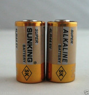 Sunking 4LR44 / 476A / PX28A / A544 / K28A / L1325 Collar 6V Batteries x 2
