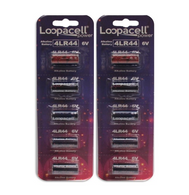 10 4LR44 6V Alkaline Batteries for Dog Shock/Training Collars by Loopacell