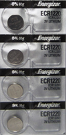 4 Energizer CR1220 ECR1220 1220 DL1220 3V Lithium Battery