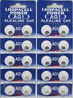 LOOPACELL AG1 LR621 364 Alkaline Watch Batteries X 20