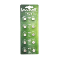 10 LOOPACELL AG3 LR41 392 CX41 SR41SW SR736 1.5V Alkaline Watch Battery