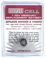 Weincell MRB400 Z400PX PX400 EPX400 RM400 1.35V Zinc Air Battery