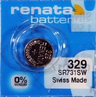 Renata 329 Button Cell watch battery