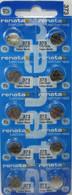10 Renata 373 Silver Oxide Electronic Zero Mercury Batteries