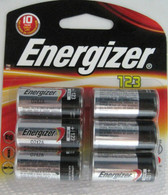 Energizer SF123 123 Lithium Photo Battery 6 Pack 3 Volts 10 Year Shelf Life For Digital Electronics